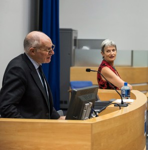 Lord Neuberger and Associate Professor Penny Darbyshire at Kingston University Law School's 50th anniversary lecture
